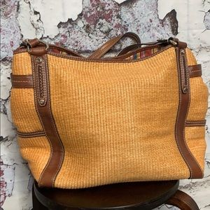 Fossil large straw purse